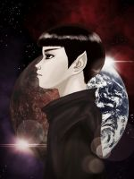 Child of two worlds: Spock by Smurfbreeder