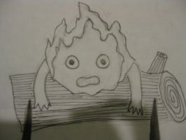 Sketch of Calcifer from Howl's Moving Castle by Meadowsweet3