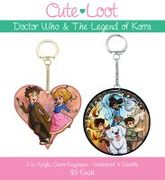 Doctor Who And Korra Keychains by cute-loot