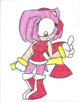 Amy Rose PEACE by Alicethehedgehog1