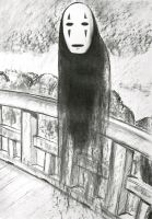 kaonashi from spirited away by mandyart1