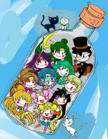 Sailor Senshi In A Bottle By Yampuff-d5es7ge by lilanna021
