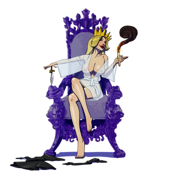Queen Miluda on her throne by gao23