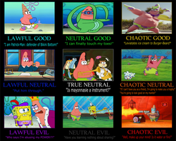 Patrick Star Character Alignment Alternative by JayZeeTee16