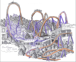 Looping Launch Coaster by dvn225