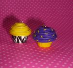 Zebra print cupcake by PORGEcreations
