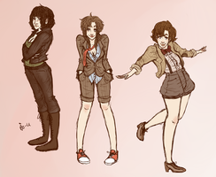 Genderbent Who - 9 10 11 by surrenderdammit