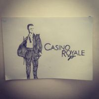 Casino Royale Stencil by Hillbro
