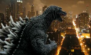 Godzilla attack's a city on July 2004 by TheSpiderAdventurer