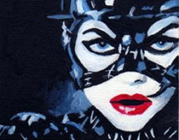 Catwoman ACEO by sullen-skrewt