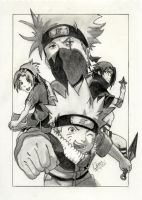 NARUTO TEAM KAKASHI by MickeyTheSaviour