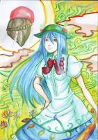 watercolor: Tenshi Hinanai by zamboze