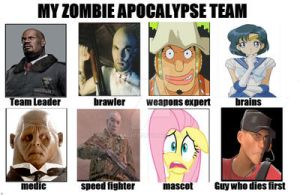 My Zombie Apocalypse Team by TeaGigs
