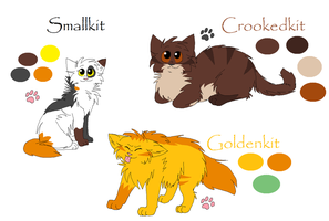 Smallkit, Crookedkit, and Goldenkit -Kits- by Arualx50