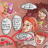teh faces of eeevvviiilll by Zelbunnii