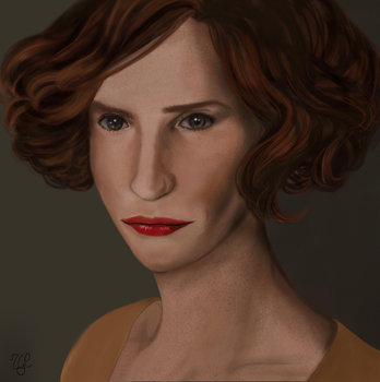 The danish girl portrait by thegeeklady