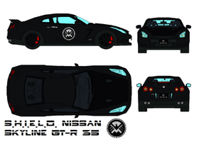 S.H.I.E.L.D. Nissan Skyline GT-R 35 by bagera3005