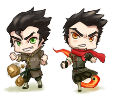 Chibi Bending Brothers by Scarlet-Songstress