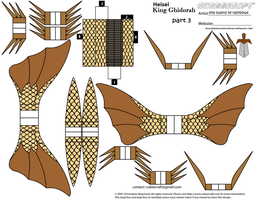 Heisei King Ghidorah part 3 by theSwordofRainbows