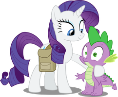 Rarity and Spike by Nuclear-dash