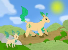 Leafeon Paradise by draizor007