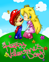 Happy Valentine's Day, from the Mushroom Kingdom! by Ppeacht