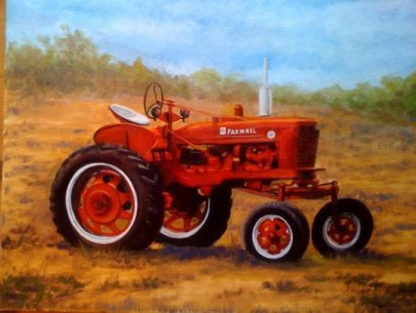 tractor oil painting by agstudio1