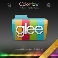 Colorflow TV Folder Icons: Glee by Crazyfool16
