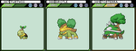 Turtwig, Grotle and Torterra by JoshR691