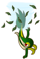 Snivy used Leaf Tornado by Blubble-The-Blubs