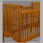 Arts and Crafts Oak crib details by DryadStudios