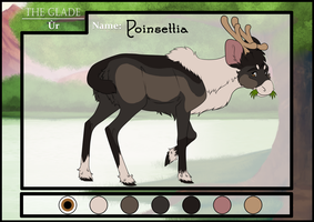 Poinsettia the Caribou by DasChocolate