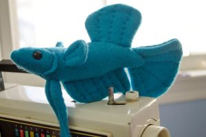 Blue Betta Fish Plush by BeeZee-Art