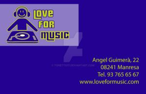 Targeta comercial Love for music by tonetto17