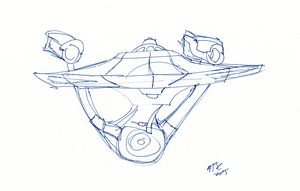 Another Enterprise Sketch by AdamTSC