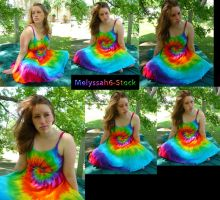 Tie Dye Dress Stock II by Melyssah6-Stock