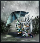 An umbrella for you - Silvarlet art by Azurelly