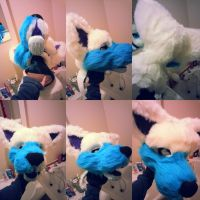 Fursuit head WIP by LittleRock3DD