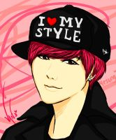 Yesung Pink Hair by naruvane-san