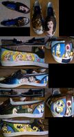 Beauty and the Beast Shoes by WingedKitty