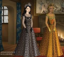 Queen of the night and Queen of the day by Lucrecia-89