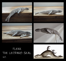 Flekk the Leopard Seal - Soft Toy by Skia