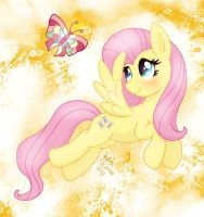 MLP FIM - Fluttershy's Magic Butterfly by Joakaha