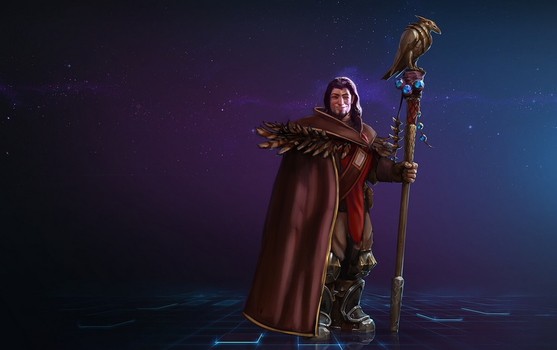 Young Medivh [Heroes of the Storm] Skin Mockup by TehSasquatch