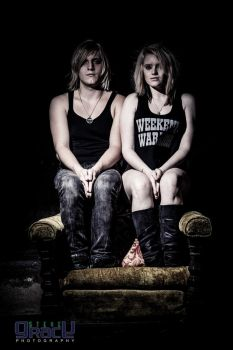 Sitting Twins by SophiiJones