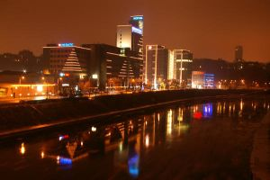 Vilnius at night by aaaaaight