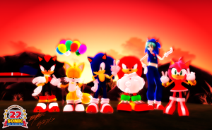 Happy 22nd Anniversary Sonic The Hedgehog by BluexBlur