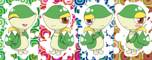 snivy Expression x4 by hoyeechun