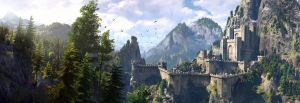The Witcher 3 panorama Kaer Morhen by Scratcherpen