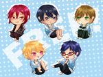 Free! - Chibis by MintyChipLuv
